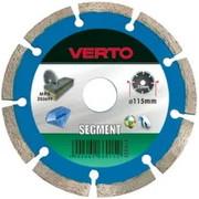 Teemantlõikeketas Verto 125 x 22,2 mm, universaal (tuhaplokk, betoon,fibo), kuivlõige