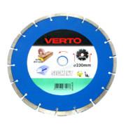 Teemantlõikeketas Verto 230 x 22,23 mm, universaal (tuhaplokk, betoon,fibo), kuivlõige