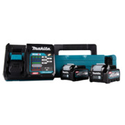 Komplekt Makita XGT 40 V, 2 x BL4025 + DC40RA laadija + MakPac