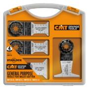 Multitööriista terade komplekt CMT, puidule, 4-osaline