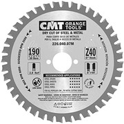 Saeketas CMT 190x2,0x30 mm, Z40 8°, metallile