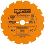 Saeketas CMT 250x2,4x30 mm Z16, abrasiivsetele materjalidele