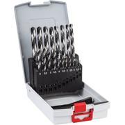 19-osaline Bosch HSS PointTeQ, DIN 338 metallipuuride komplekt