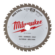 Saeketas metallile Milwaukee 174 x 20 mm, 60 hammast