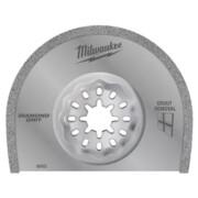 Universaallõikuri teemanttera Milwaukee 75 x 1,2 mm, mördi eemaldamiseks