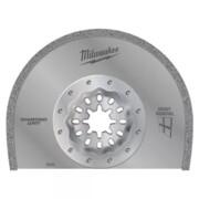 Universaallõikuri teemanttera Milwaukee 90 x 2,2 mm, mördi eemaldamiseks