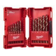 Metallipuuride komplekt Milwaukee RED COBALT HSS-G Co, 1-10 mm, 19-osaline