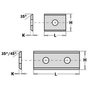 Tera CMT 30x12x1,5 mm, HM SMG