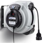 Kaablitrummel automaatne 230V, 3x2,5mm², 10 m, hall, pistiku-pesaga