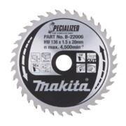 Saeketas Makita 136x20x1,5mm 36T 20 ° - DSS501