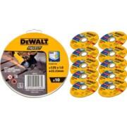Lõikeketas DeWalt 125x1,0mm - 10 tk