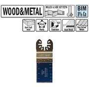 Multitööriista tera CMT 28 mm, puidule ja metallile